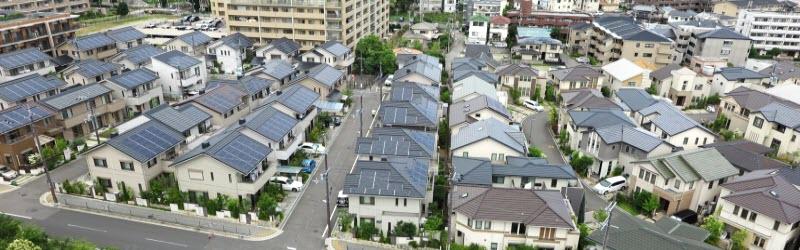 日本のとある街並み